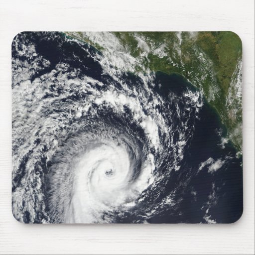 A tropical cyclone mouse pad