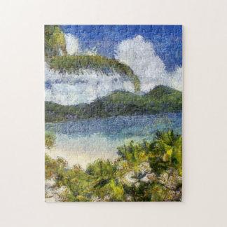 A tropical paradise jigsaw puzzle