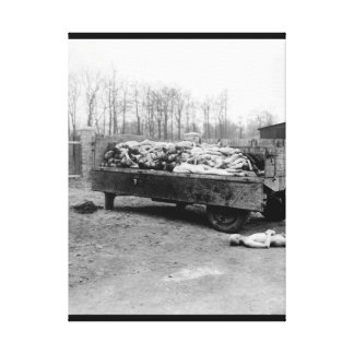 A truck load of bodies of_War image Canvas Print