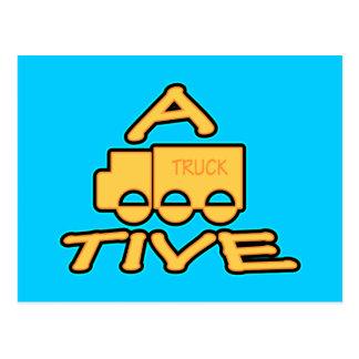 A TRUCK TIVE funny attractive logo Postcard