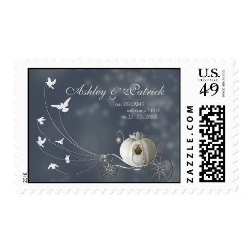 A True Fairy Tale Wedding Postage Stamp