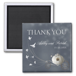 A True Fairy Tale Wedding Thank You 2 Inch Square Magnet