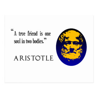 A true friend by Aristotle. Postcard