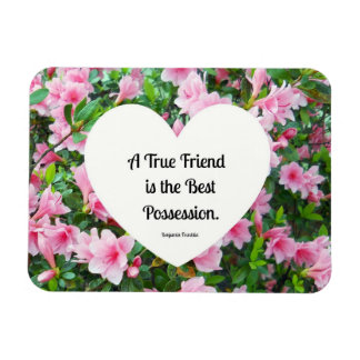 A true friend is the best possession. magnet