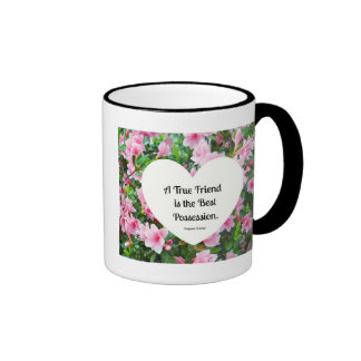 A true friend is the best possession. ringer coffee mug