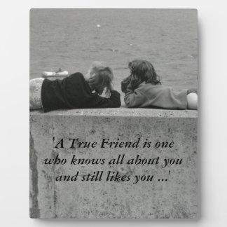 A True Friend Plaque