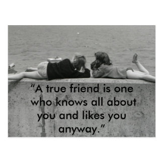 A True Friend Postcard