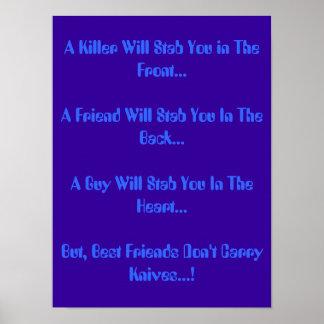 A true friend poster