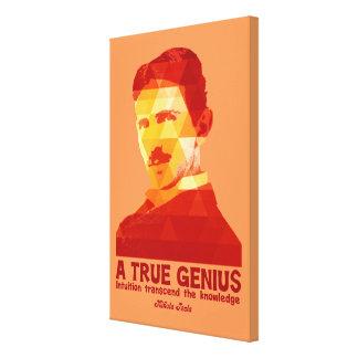 A True Genius -Nikola Tesla- Canvas Prints