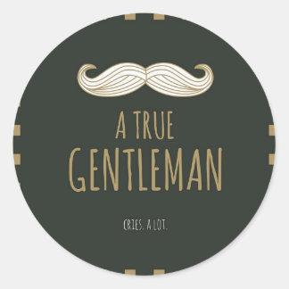 A True Gentleman Classic Round Sticker