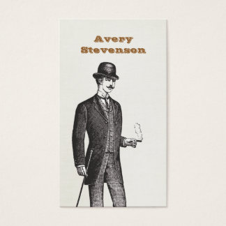 A True Gentleman In Bowler Hat Business Card