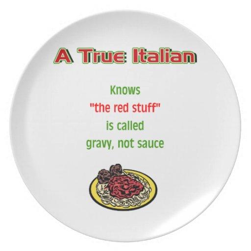 A True Italian Dinner Plate