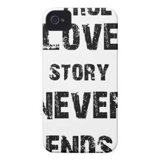 a true love story never ends iPhone 4 case