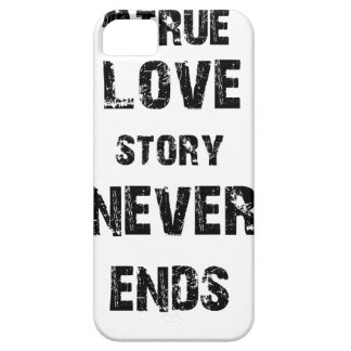a true love story never ends iPhone SE/5/5s case