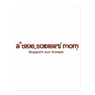 A true soldier's mom postcard