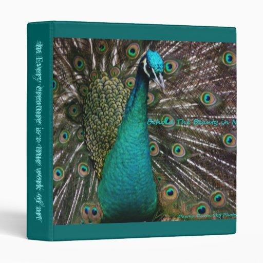 A true work of Art Peafowl three ring binder