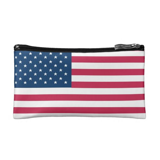 A truly patriotic gift: American Flag Cosmetics Bags