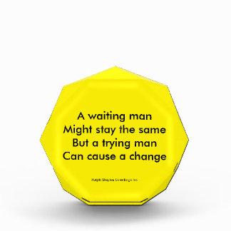 A trying man motivational award