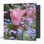 A tulip at Luxembourg Gardens, Paris, France Vinyl Binders