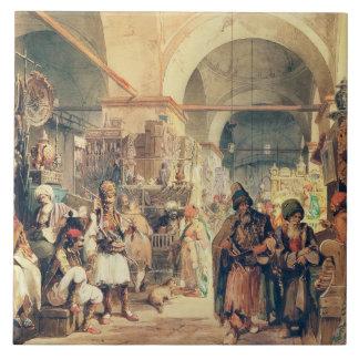 A Turkish Bazaar, 1854 (pencil & w/c on paper) Ceramic Tile