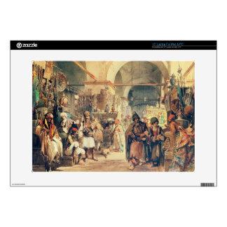 A Turkish Bazaar, 1854 (pencil & w/c on paper) Laptop Skins