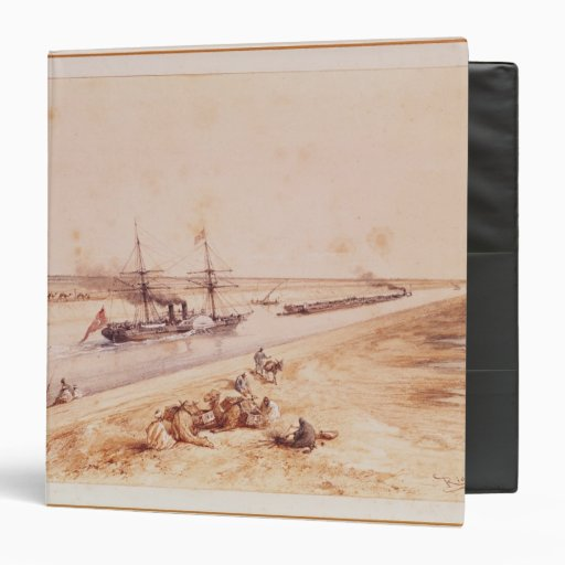 A Turkish Paddle Steamer Going Up the Suez Canal Vinyl Binder