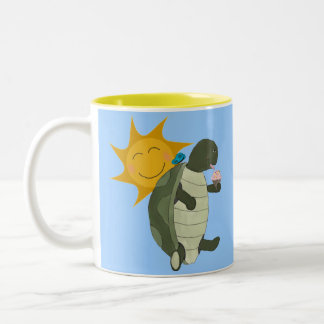 A Turtle Eating Ice Cream Mug
