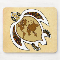 A Turtle For Earth Day On A Mousepad mousepad