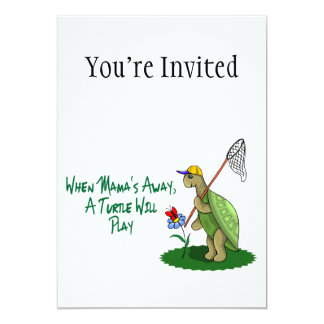 A Turtle Will Play 5x7 Paper Invitation Card