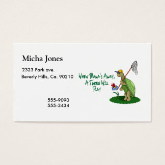 A Turtle Will Play Business Card