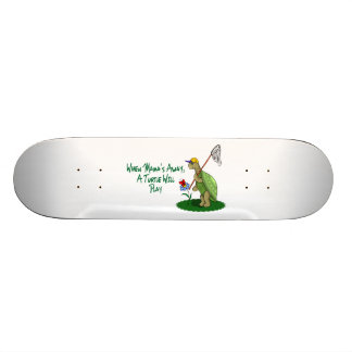 A Turtle Will Play Skateboard Deck