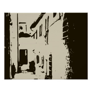 A Tuscan Brick Alleyway of Rome Print