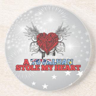 A Tuvaluan Stole my Heart Drink Coaster