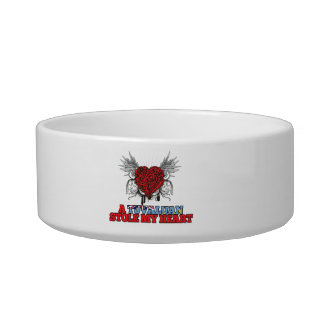 A Tuvaluan Stole my Heart Pet Food Bowl