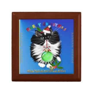 A Tuxedo Kitten Christmas Gift Box