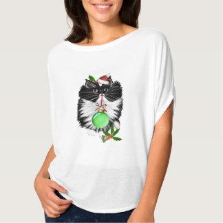 A Tuxedo Kitten Christmas T Shirt