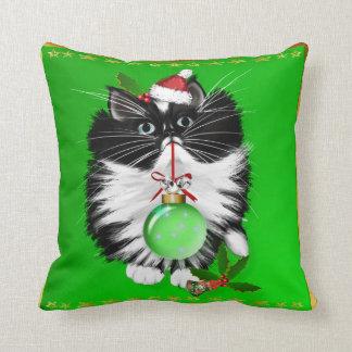 A Tuxedo Merry Christmas Pillow