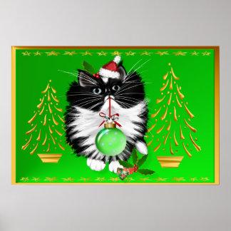 A Tuxedo Merry Christmas Poster