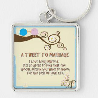 a tweet to marriage keychain