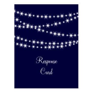 A Twinkle Lights Postcard RSVP (navy)