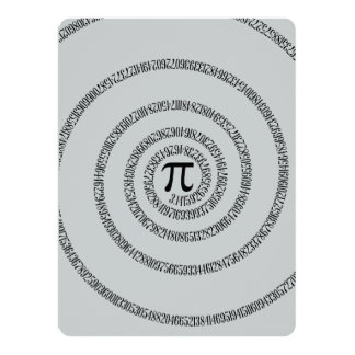 A Twist of Pi Click Customize to Change Grey Color 6.5x8.75 Paper Invitation Card