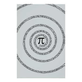 A Twist of Pi Click Customize to Change Grey Color Stationery
