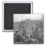 A Two Gun Battery during the Crimean War, c.1855 2 Inch Square Magnet