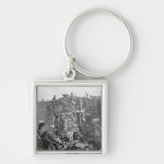 A Two Gun Battery during the Crimean War, c.1855 Silver-Colored Square Keychain