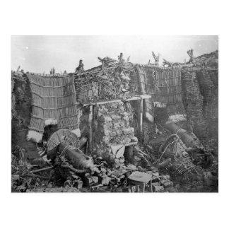 A Two Gun Battery during the Crimean War, c.1855 Postcard