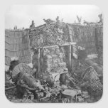 A Two Gun Battery during the Crimean War, c.1855 Square Sticker