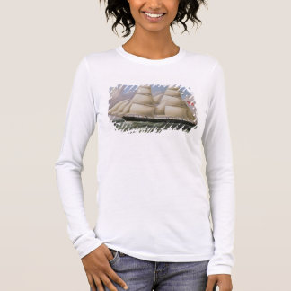 A Two Masted Schooner off Dover (oil on canvas) Long Sleeve T-Shirt