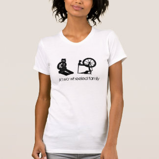 A Two Wheeled Family - Spinning Wheels Tee Shirts