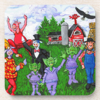 A Typical Day in the Midwest Drink Coaster