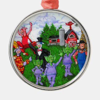 A Typical Day in the Midwest Metal Ornament
